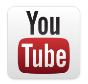 YouTube logo stacked white